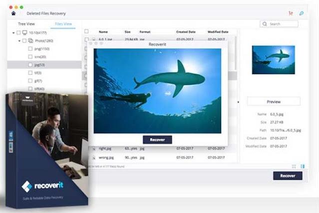 برنامج استعادة الملفات Recoverit Wondershare  سريع مضمون مع الشرح