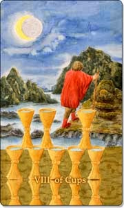 eight of cups aquatic tarot
