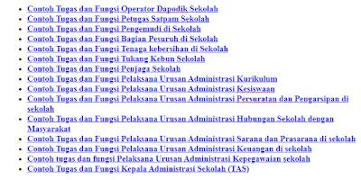 Contoh Format Kumpulan Tugas Tenaga Administrasi Sekolah/Madrasah