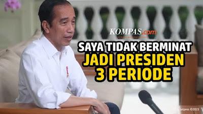Jokowi Tegaskan Tak Akan Ada 3 Priode : Mau Saya Ngomong Gimana Lagi