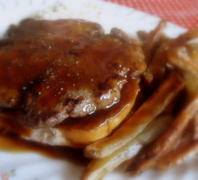Hot Hamburger Platter Dinner