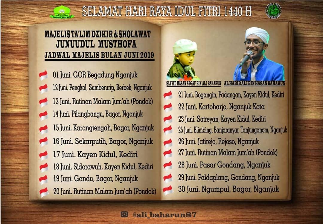 Jadwal Majlis Junuudul Musthofa Juni 2019