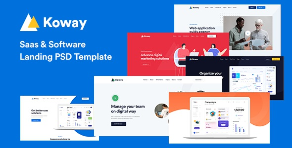Best Saas and Software Landing PSD Template