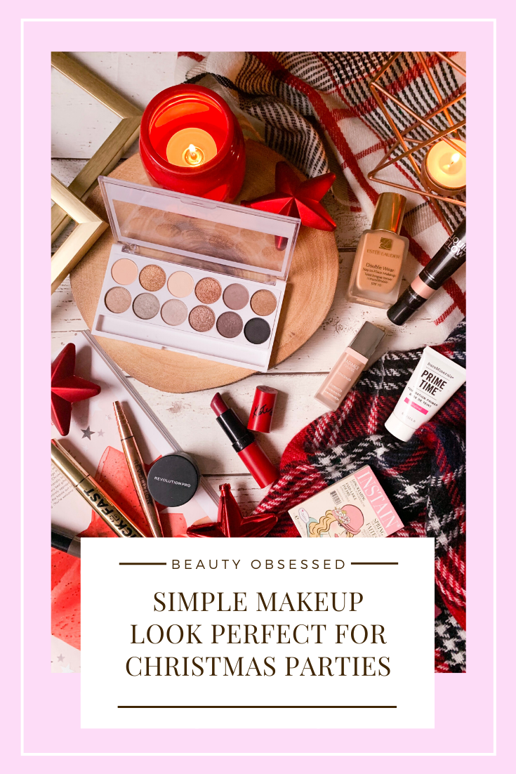 Simple Makeup Look Perfect For Christmas Pinterest Graphic