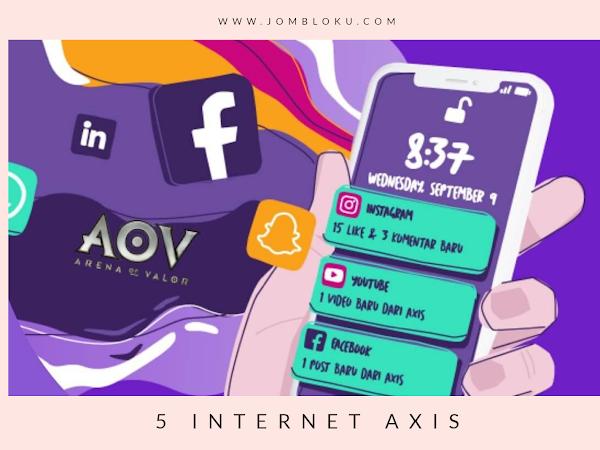 5 Paket Internet AXIS dan Pilih Sesuai Kebutuhan Kamu