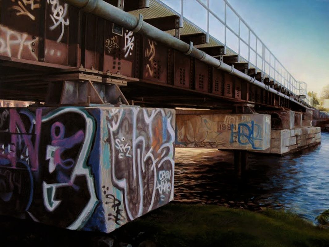 01-Tattooed-Bridge-Pierre-Raby-Urban-Landscapes-and-Still-Life-Realistic-Paintings-www-designstack-co