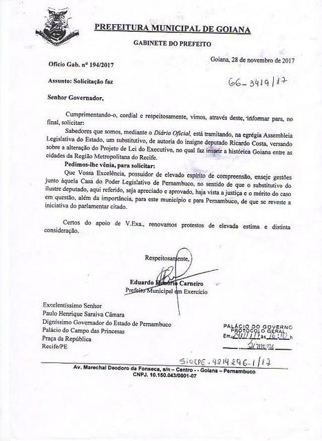Alepe aprova ingresso de Goiana na Região Metropolitana do Recife
