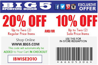 photograph about Big 5 Printable Coupon named Large 5 wearing products and solutions printable coupon codes April 2018