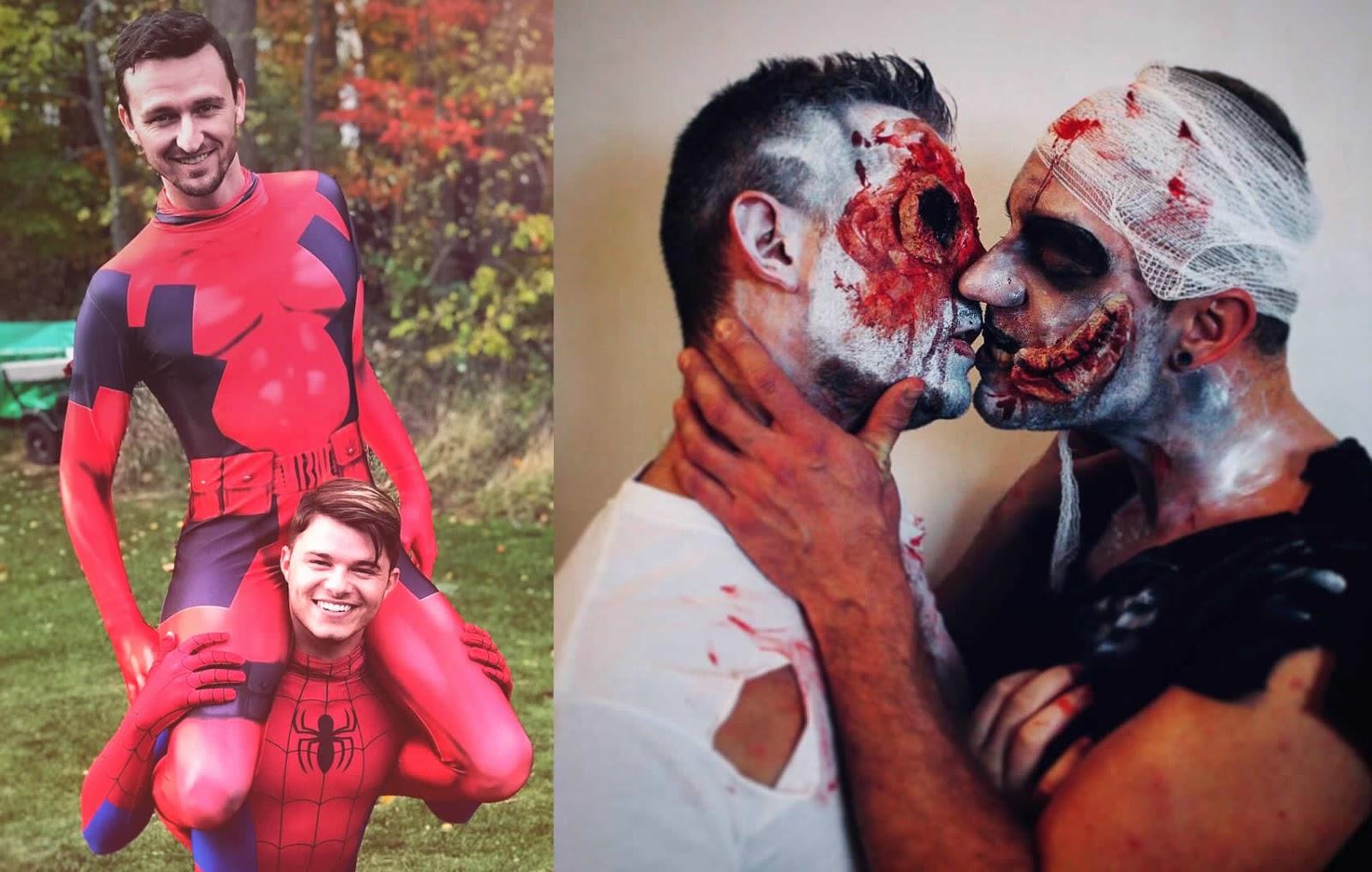 13 casais do mesmo sexo que arrasaram nas fantasias no Halloween