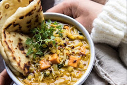 Coconut Sweet Potato Lentil Soup with Rice