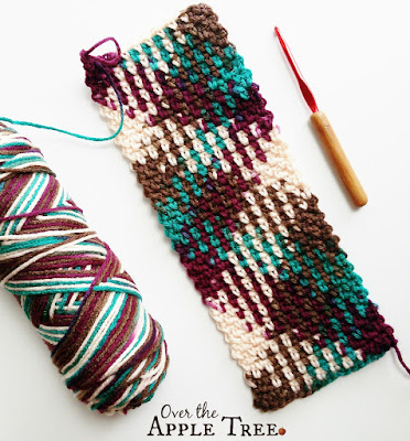 Crochet Scarf- Color Pooling by Over The Apple Tree