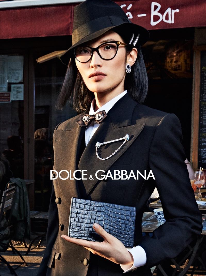 Nuri Son appears in Dolce & Gabbana accessories fall-winter 2019 campaign