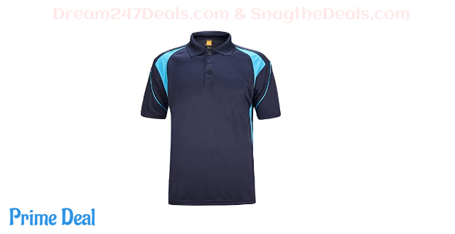 45% OFF  Men's Polo Shirt Cool Quick-Dry Sweat-Wicking Color Block Short Sleeve