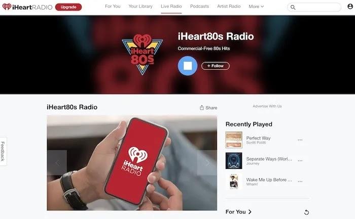 محطات راديو ويب مفيدة راديو Iheart80s