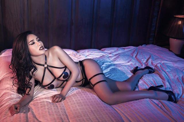 Bộ ảnh full cực sexy của Linh Miu