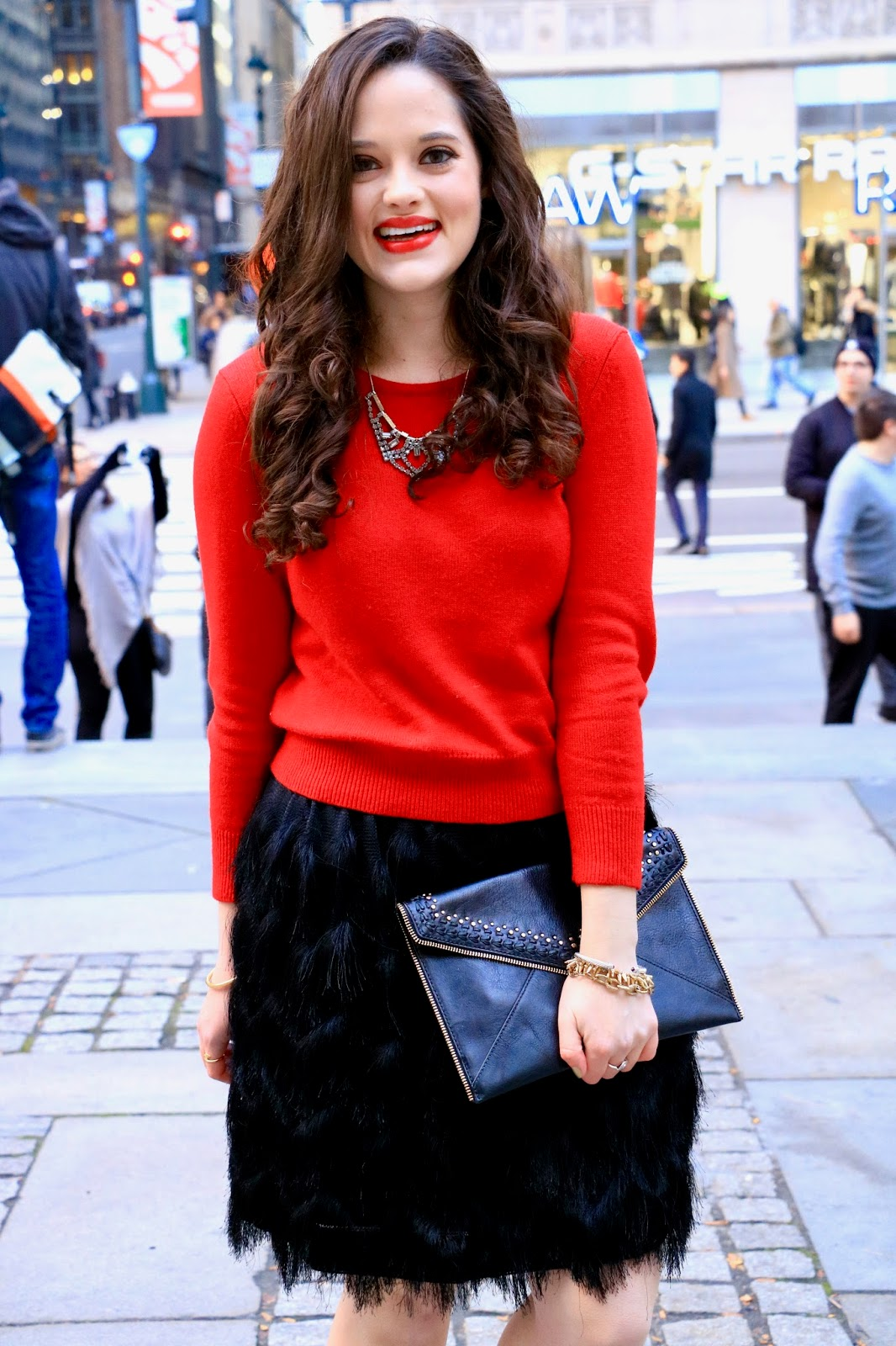 ann taylor red crop sweater pics