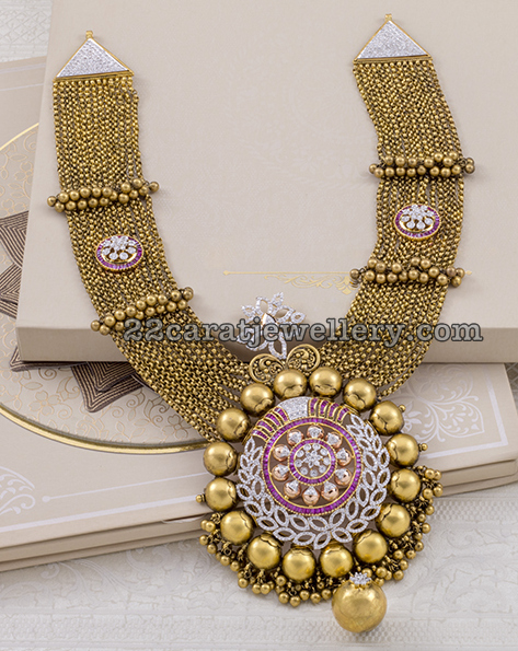 Trendy Chandrahaar with Pendant