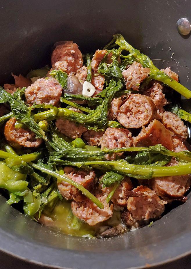 sausage and broccoli rabe sauteed
