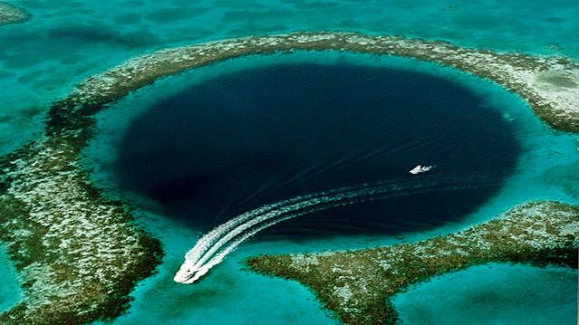 Peta 3D Pertama di Great Blue Hole Belize yang di ungkap Para Peneliti