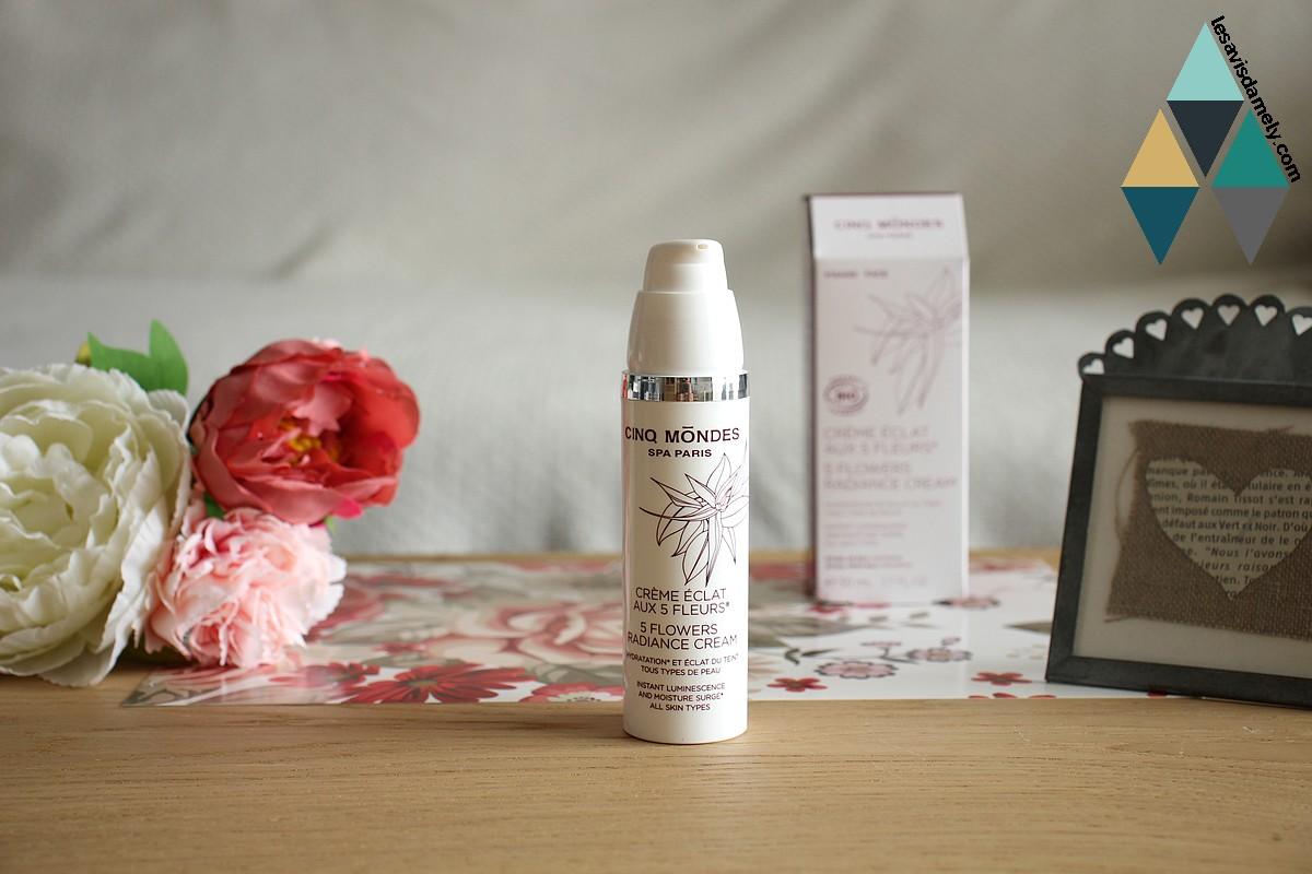 avis et test crème hydratante visage eclat 5 fleurs cinq mondes