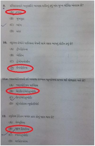 11th science biology book gseb result