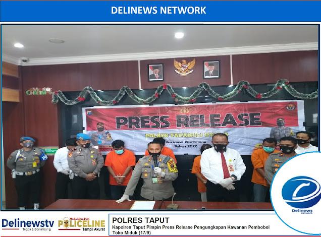 25 Kali Aksi di Jawa, Bandit Kelas Kakap Keok di Polres Taput