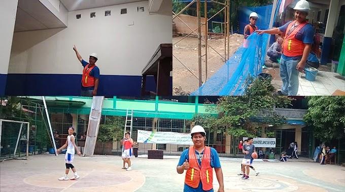Proyek Rehab SMP 1 Depok Perhatikan Faktor Keamanan