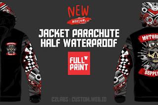 New !! Jacket Parachute Half Waterproof Full Printing Full Color