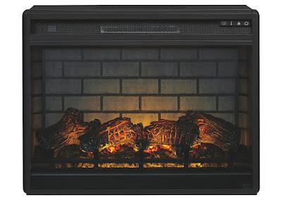 Infrared LED fireplace insert