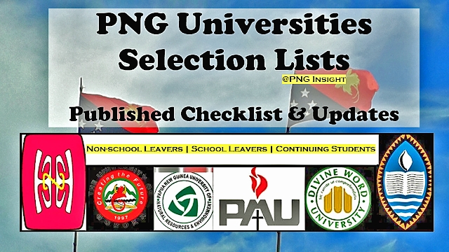 Admission list for Uog UPNG pdf