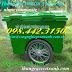 Thùng rác 1000 lít nhựa composite 3 bánh xe - bánh hơi