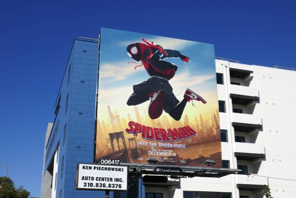 Miles Morales Spider-man Into Spider-verse billboard