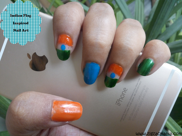 Independence Day (Indian Flag Inspired) Nail Tutorial