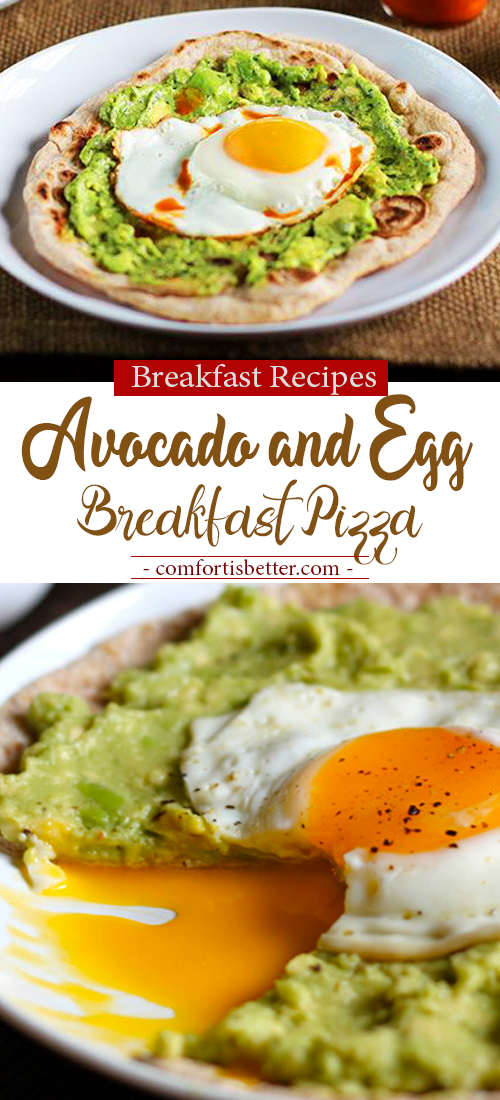 Avocado and Egg Breakfast Pizza - Easy and Delicious