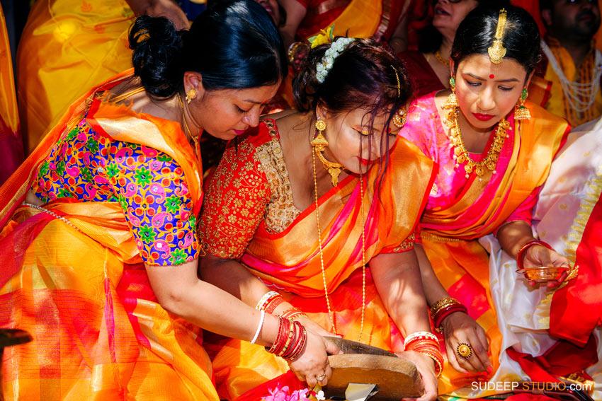 Indian Bengali Wedding Photography Holud Ceremony by SudeepStudio.com Michigan Ann Arbor South Asian Indian Wedding Photographer