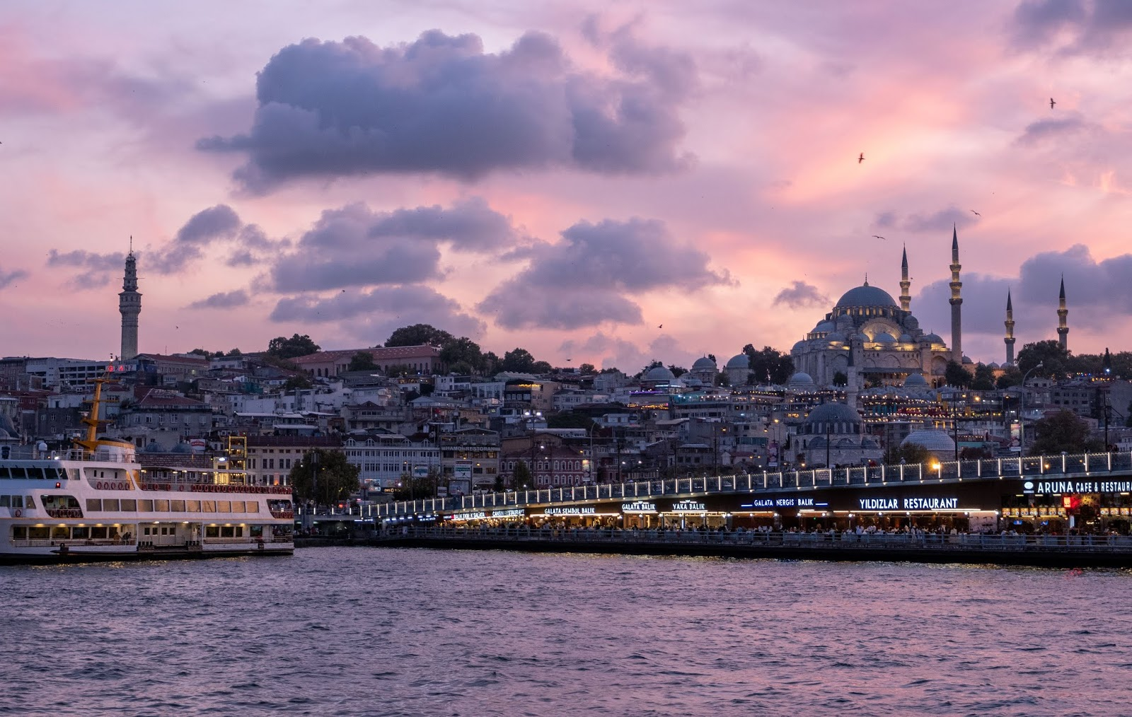 Watching the sunset in Istanbul, Turkey