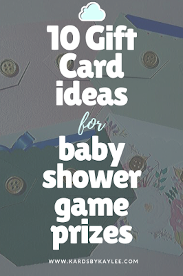 10 Gift card ideas for a baby shower game prizes. Diaper gift card holder
