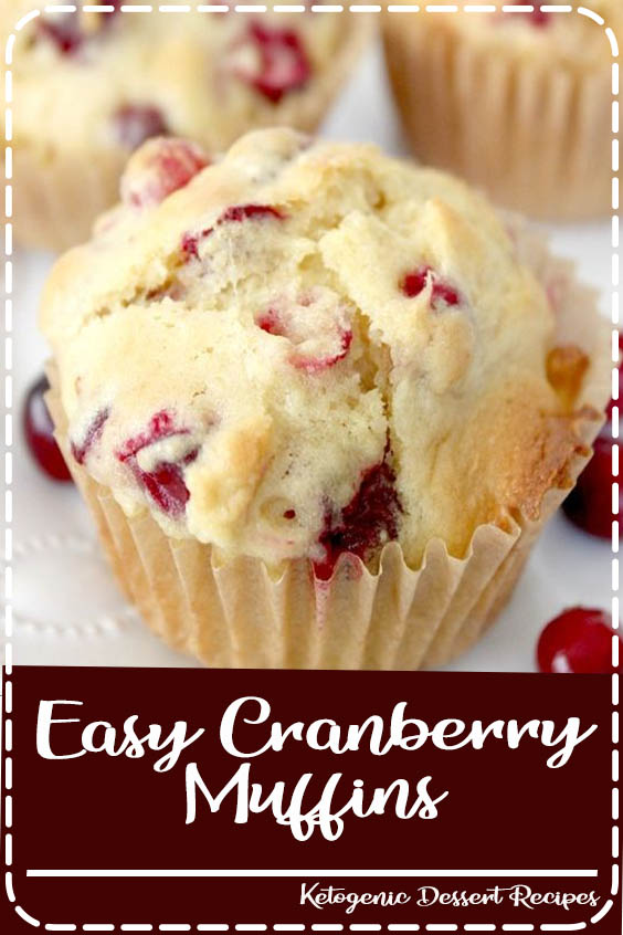 Try this easy and delicious Easy Cranberry Muffins Recipe next time you grab cranberries  Easy Cranberry Muffins