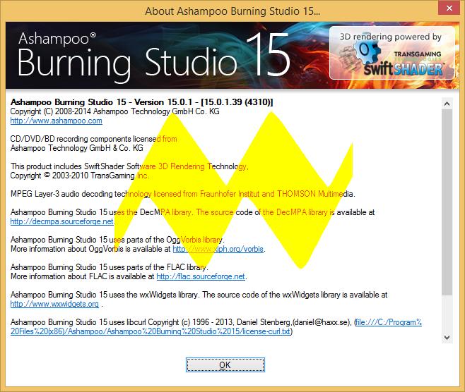 Ashampoo Burning Studio 15.0.1