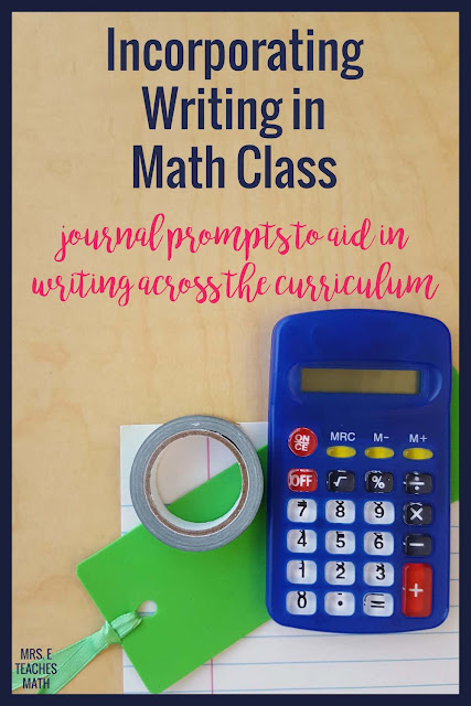 Writing in mathematics is more important than ever.  Writing helps students justify their answers and develop their mathematical vocabulary.