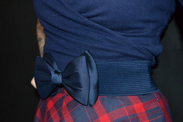 Dancing Days by Banned 50s Wow to the Bow Belt in Navy