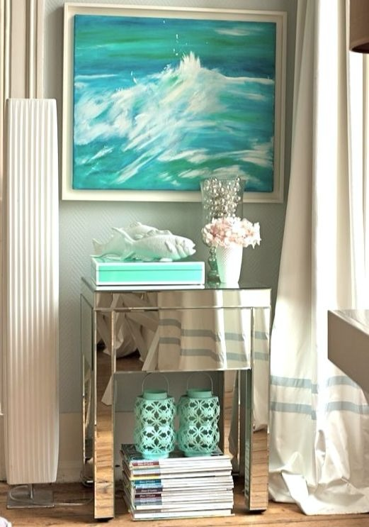 Small Mirrored Side Table Idea