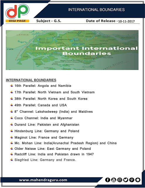 DP | Important International Boundaries | 10 - 11 -17