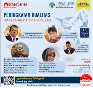 Sharing penulisan buku teks Sharing Penulisan Buku Teks dan Buku Ajar di Universitas Negeri Padang