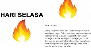 Kepribadian cowok yang lahir pada hari Selasa = Api