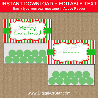 printable Christmas bag toppers