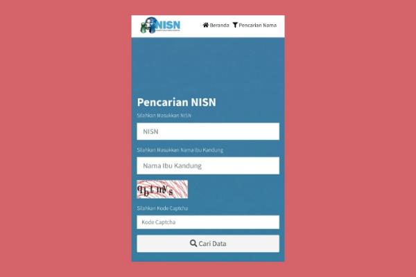 Cara Cek NISN Secara Online