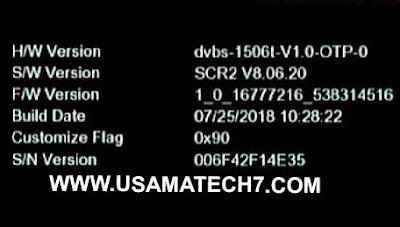 1506T NEW SOFTWARE EUROSAT P8 SMART RECEIVER VLINE & POWERVU KEY SOFTWARE