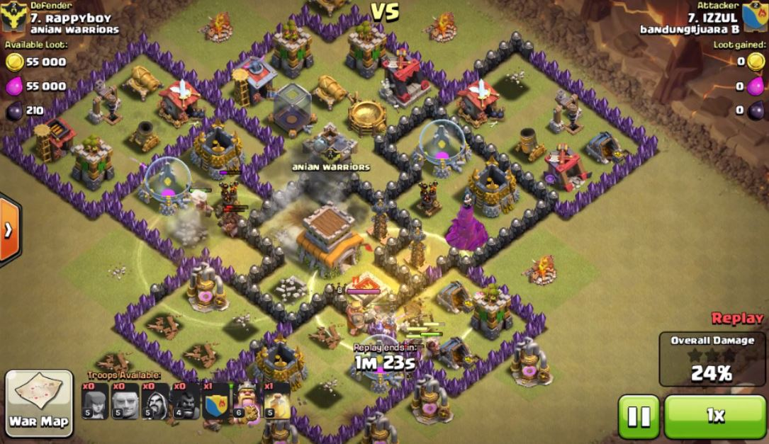 best-clash-of-clans-town-hall-11-war-base Here we now have a quite intriguing war base I love. The Clan Castle with each of the air sweeper facing both sides along with the soles together using all the interior part behind the corners which makes funneling tough get this layout so that attacker won't have 3 Stars, at least that I have not seen one performing it.