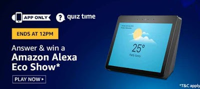 Amazon Alexa Echo show Quiz Answer